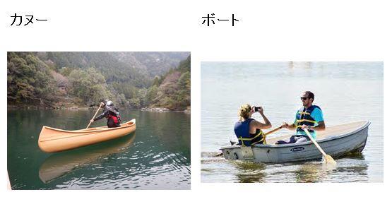 カヌーとボート